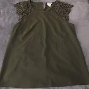 J. Crew lace blouse